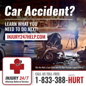 Injury 24/7 Social Media Marketing Image
